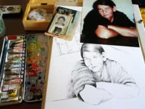 Pintura Zizinha Tiradentes 2 300x225 - Uma homenagem à Zizinha - Ainda finalizando nossa Casa Atelier
