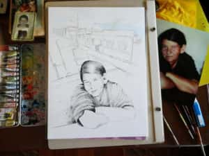 Pintura Zizinha Tiradentes 3 300x225 - Uma homenagem à Zizinha - Ainda finalizando nossa Casa Atelier