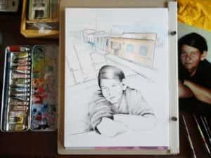 Pintura Zizinha Tiradentes 5 300x225 - Uma homenagem à Zizinha - Ainda finalizando nossa Casa Atelier