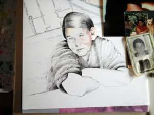Pintura Zizinha Tiradentes 6 300x225 - Uma homenagem à Zizinha - Ainda finalizando nossa Casa Atelier
