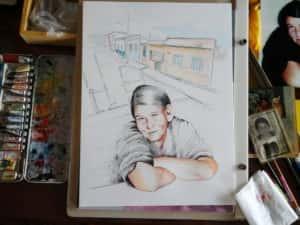 Pintura Zizinha Tiradentes 8 300x225 - Uma homenagem à Zizinha - Ainda finalizando nossa Casa Atelier