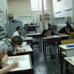 A turma desenhando 150x150 - Desenhos dos Alunos da Oficina de Desenho Artístico 2002 a 2017