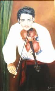 Cigano com Violino 181x300 - Mais Artistas - Exposição Virtual