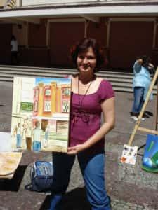 Pintura ao Ar Livre Rose Valverde 1 225x300 - 15° Encontro mundial de pintura ao Ar Livre