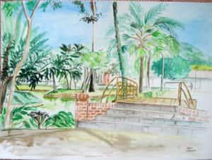 Pintura ao Ar Livre Rose Valverde 12 300x227 - 15° Encontro mundial de pintura ao Ar Livre