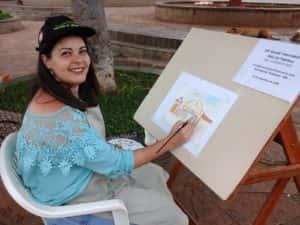 Pintura ao Ar Livre Rose Valverde 24 300x225 - 15° Encontro mundial de pintura ao Ar Livre