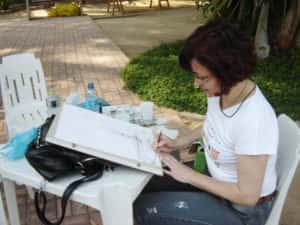 Pintura ao Ar Livre Rose Valverde 6 300x225 - 15° Encontro mundial de pintura ao Ar Livre