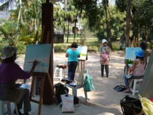 Pintura ao Ar Livre Rose Valverde 8 300x225 - 15° Encontro mundial de pintura ao Ar Livre