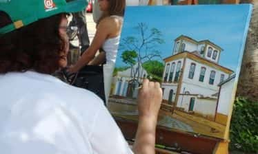 Pintura ao Ar Livre em Tiradentes 374x224 - Encontro Mundial de Pintura ao Ar Livre