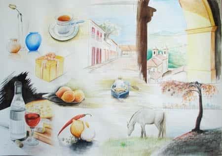 Quadro Desenhos Rose Valverde 1 - Mostra Professor Também Faz Arte - 2007