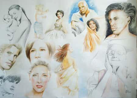Quadro Desenhos Rose Valverde 2 - Mostra Professor Também Faz Arte - 2007