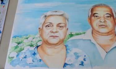 Retrato em Aquarela 374x224 - Um retrato especial em aquarela