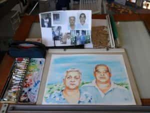 Retrato em Aquarela 7 300x225 - Um retrato especial em aquarela