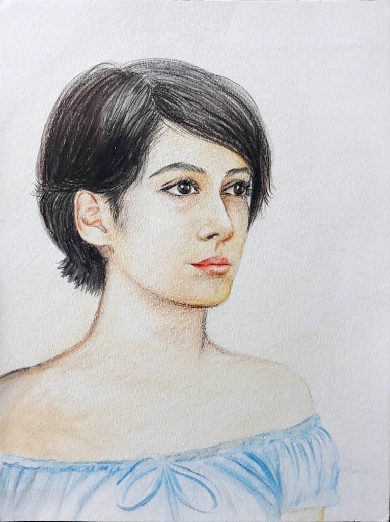 retrato da Iara 2001 rose valverde 766x1024 - Artes Plásticas