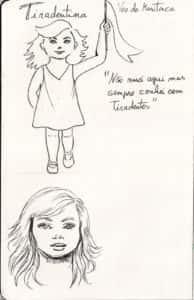 tiradentina croqui 194x300 - Apresentação da personagem Maria Tiradentina no dia do Quadrinho Nacional