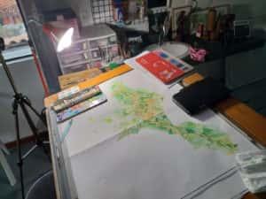 20190719 172244 300x225 - Mapa de Tiradentes MG e uma coleção de aquarelas em fine art