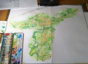 20190727 110730 300x218 - Mapa de Tiradentes MG e uma coleção de aquarelas em fine art