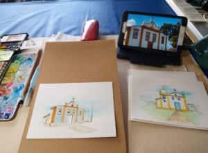 20190811 114915 300x221 - Mapa de Tiradentes MG e uma coleção de aquarelas em fine art