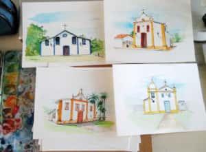 20190814 114334 300x221 - Mapa de Tiradentes MG e uma coleção de aquarelas em fine art