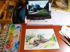20190905 185851 300x222 - Mapa de Tiradentes MG e uma coleção de aquarelas em fine art