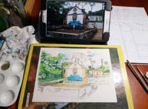 20190907 185705 300x222 - Mapa de Tiradentes MG e uma coleção de aquarelas em fine art