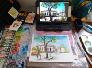 20190914 111153 300x222 - Mapa de Tiradentes MG e uma coleção de aquarelas em fine art