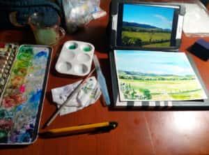 20190917 193659 300x222 - Mapa de Tiradentes MG e uma coleção de aquarelas em fine art