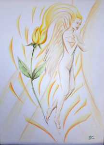 rose valverde mistica raio amarelo 216x300 - Artes Plásticas