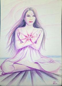 rose valverde mistica raio rosa 216x300 - Artes Plásticas