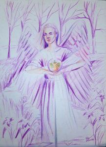 rose valverde mistica raio violeta 217x300 - Artes Plásticas
